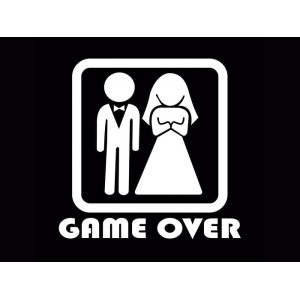 Placa Decorativa - Game Over