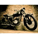 Placa Decorativa - Moto Vintage